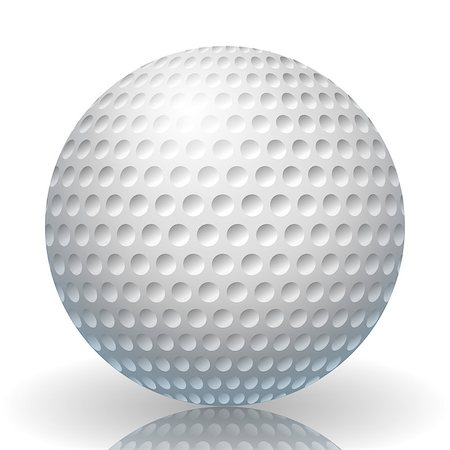 Illustration of a golf ball on a white background. Stock Photo - Budget Royalty-Free & Subscription, Code: 400-06701339