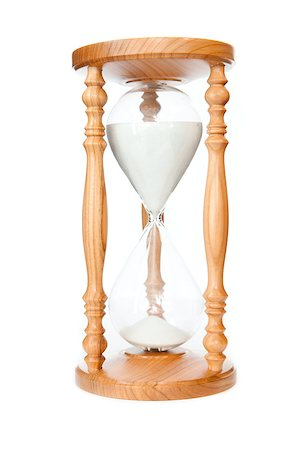 sand clock - Hourglass against a white background Stock Photo - Budget Royalty-Free & Subscription, Code: 400-06734033
