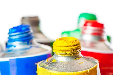 pouring paint art - Tubes of oil paint open in conjunction Stock Photo - Budget Royalty-Free & Subscription, Code: 400-06736555