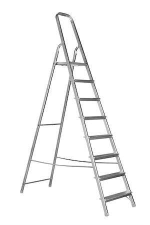 Ladder isolated on the white background Stock Photo - Budget Royalty-Free & Subscription, Code: 400-06737060