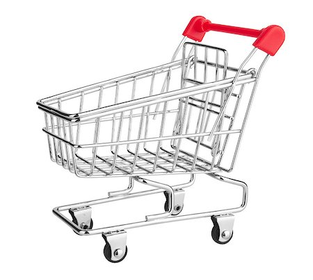 empty shopping cart - Shopping Cart isolated on white background Stock Photo - Budget Royalty-Free & Subscription, Code: 400-06737061