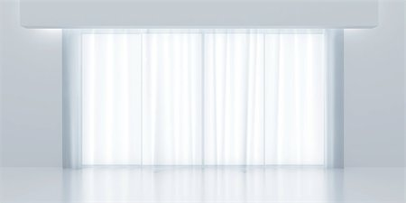 transparent curtains and light from a window Stock Photo - Budget Royalty-Free & Subscription, Code: 400-06737071