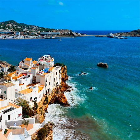 View of Sa Penya District in Ibiza Town, Balearic Islands, Spain Stock Photo - Budget Royalty-Free & Subscription, Code: 400-06737185