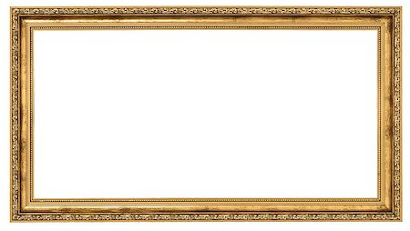 Extremely long golden frame isolated on white background Stock Photo - Budget Royalty-Free & Subscription, Code: 400-06737544