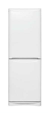 Refrigerator isolated on white background Stock Photo - Budget Royalty-Free & Subscription, Code: 400-06733387