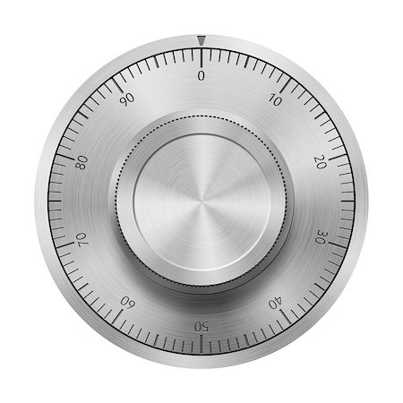 Safe combination lock wheel, isolated on white Stock Photo - Budget Royalty-Free & Subscription, Code: 400-06733389