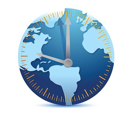 Global time concept illustration design over a white background Stock Photo - Budget Royalty-Free & Subscription, Code: 400-06744252