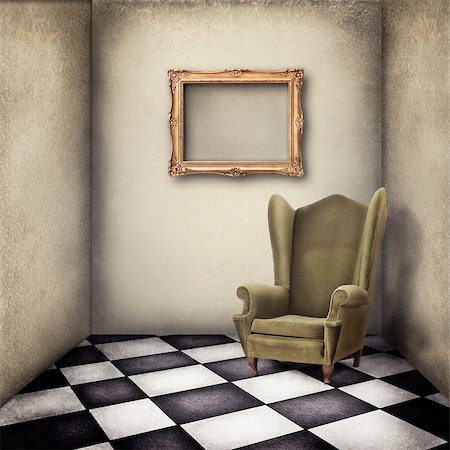 old fashioned armchair in vintage room Stock Photo - Budget Royalty-Free & Subscription, Code: 400-06746059
