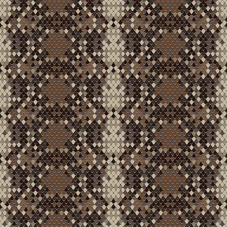 snake skin - Snake skin reptile seamless pattern, vector Eps8 illustration. Stock Photo - Budget Royalty-Free & Subscription, Code: 400-06747303