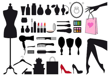 fashion and beauty, set of vector design elements Stock Photo - Budget Royalty-Free & Subscription, Code: 400-06747915