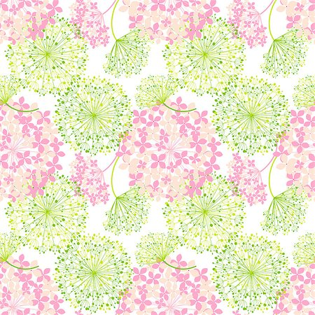 Springtime Colorful Flower Seamless Pattern Background Stock Photo - Budget Royalty-Free & Subscription, Code: 400-06748184