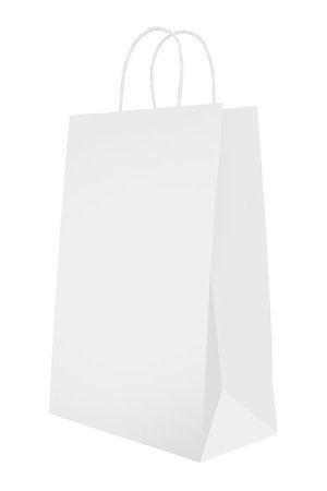 Bag for shopping isolated on white Stock Photo - Budget Royalty-Free & Subscription, Code: 400-06749187