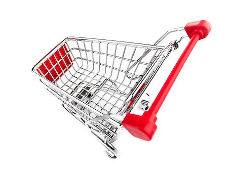 empty shopping cart - shopping cart top view isolated on white Stock Photo - Budget Royalty-Free & Subscription, Code: 400-06749657