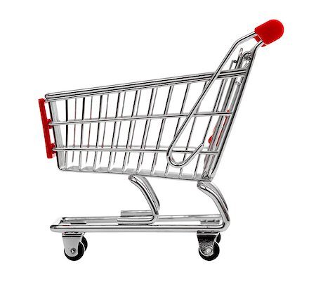 empty shopping cart - shopping cart isolated on white Stock Photo - Budget Royalty-Free & Subscription, Code: 400-06749783
