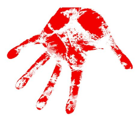 bloody hand prints, on a white background, vector. Stock Photo - Budget Royalty-Free & Subscription, Code: 400-06741753