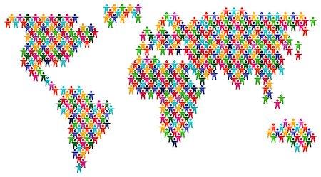family abstract - world partnership Stock Photo - Budget Royalty-Free & Subscription, Code: 400-06741901