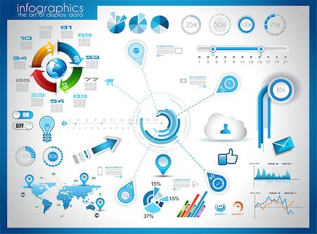 report icon - Infographic elements - set of paper tags, technology icons, cloud cmputing, graphs, paper tags, arrows, world map and so on. Ideal for statistic data display. Stock Photo - Budget Royalty-Free & Subscription, Code: 400-06742936