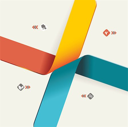 Modern origami style options banner. Vector illustration. Stock Photo - Budget Royalty-Free & Subscription, Code: 400-06766496