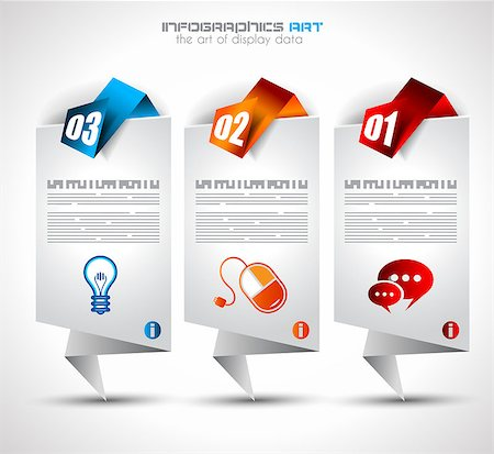 Infographic design template with paper tags. Ideal to display information, ranking and statistics with orginal and modern style. Stock Photo - Budget Royalty-Free & Subscription, Code: 400-06766749