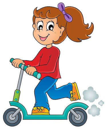 sports scooters - Kids play theme image 4 - eps10 vector illustration. Stock Photo - Budget Royalty-Free & Subscription, Code: 400-06767346