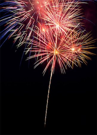 fireworks white background - Fireworks in the night sky Stock Photo - Budget Royalty-Free & Subscription, Code: 400-06767785