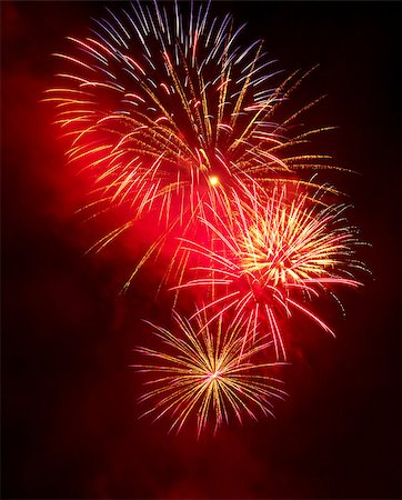 fireworks white background - Fireworks in the night sky Stock Photo - Budget Royalty-Free & Subscription, Code: 400-06767788