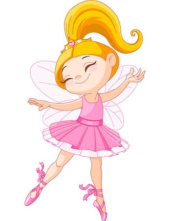Illustration of a happy little fairy ballerina Stock Photo - Budget Royalty-Free & Subscription, Code: 400-06763744