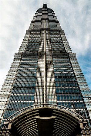 Jin Mao Tower  skyscrapers building pudong shanghai china Stock Photo - Budget Royalty-Free & Subscription, Code: 400-06770945
