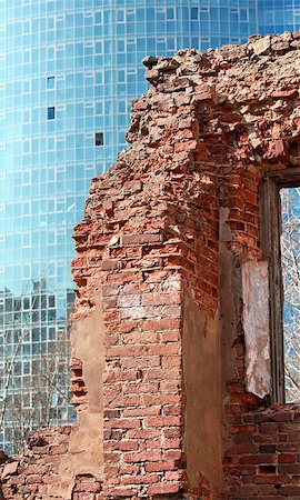 ruins on the background of modern skyscrapers Stock Photo - Budget Royalty-Free & Subscription, Code: 400-06771319