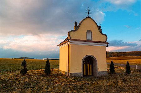 The typical small chapel near the villages in Czech Republic Stock Photo - Budget Royalty-Free & Subscription, Code: 400-06787317