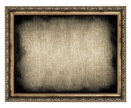 frame with empty canvas isolated on white Stock Photo - Budget Royalty-Free & Subscription, Code: 400-06788919