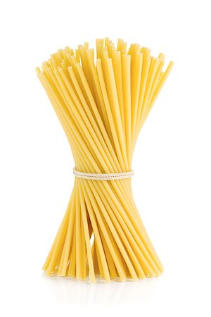 Bunch of spaghetti. Isolated on white background Stock Photo - Budget Royalty-Free & Subscription, Code: 400-06796244