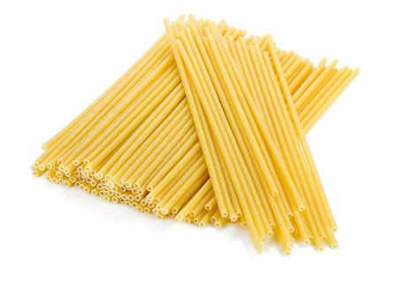 Heap of spaghetti. Isolated on white background Stock Photo - Budget Royalty-Free & Subscription, Code: 400-06796240