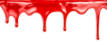 dripping blood - liquid red paint dripping on white background Stock Photo - Budget Royalty-Free & Subscription, Code: 400-06796766