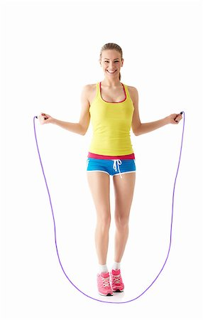 Young girl jumping rope Stock Photo - Budget Royalty-Free & Subscription, Code: 400-06792893