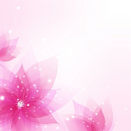 flower greeting - Abstract Background With Flowers With Gradient Mesh, Vector Illustration Stock Photo - Budget Royalty-Free & Subscription, Code: 400-06848159