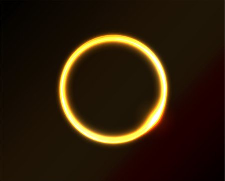 Vector yellow circle looks like ring of fire or sun in space. Dark background. Stock Photo - Budget Royalty-Free & Subscription, Code: 400-06848351