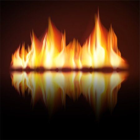 Burn flame fire vector background, Zip includes 300 dpi JPG, Illustrator CS, EPS10. Vector with transparency. Stock Photo - Budget Royalty-Free & Subscription, Code: 400-06849054