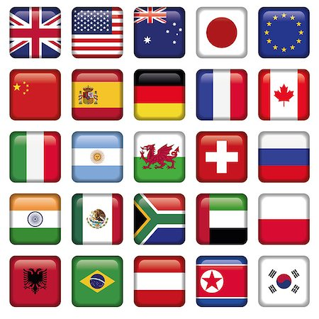Vector set of Flags of world top states, Zip includes 300 dpi JPG, Illustrator CS, EPS10. Vector with transparency. Stock Photo - Budget Royalty-Free & Subscription, Code: 400-06849118