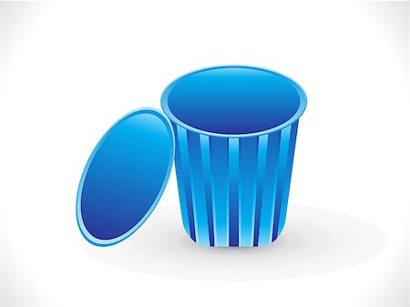 abstract blue trash icon vector illustration Stock Photo - Budget Royalty-Free & Subscription, Code: 400-06854251