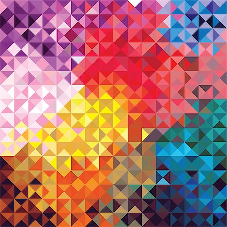 svetap (artist) - Retro seamless pattern of geometric shapes. Colorful mosaic banner. Geometric triangle vector hipster background. Stock Photo - Budget Royalty-Free & Subscription, Code: 400-06854510
