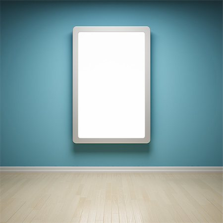enki (artist) - Blank advertising billboard in empty room Stock Photo - Budget Royalty-Free & Subscription, Code: 400-06854649