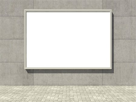 enki (artist) - Blank advertising billboard on concrete wall Stock Photo - Budget Royalty-Free & Subscription, Code: 400-06854651