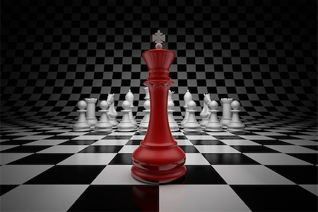enki (artist) - King of leader at the head of chess on chessboard Stock Photo - Budget Royalty-Free & Subscription, Code: 400-06854664