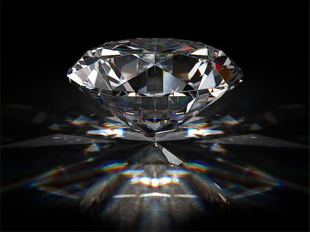 enki (artist) - Brilliant diamond on black surface Stock Photo - Budget Royalty-Free & Subscription, Code: 400-06854684