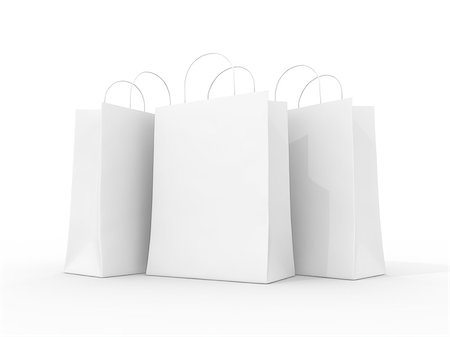 enki (artist) - Blank shopping bags Stock Photo - Budget Royalty-Free & Subscription, Code: 400-06854713