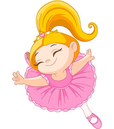 Happy little ballerina in ballet jump Stock Photo - Budget Royalty-Free & Subscription, Code: 400-06855273