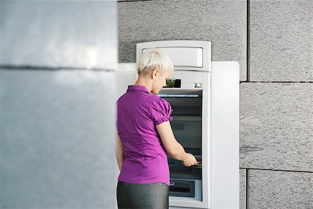diego_cervo (artist) - business woman withdrawing cash at bank atm Stock Photo - Budget Royalty-Free & Subscription, Code: 400-06858518