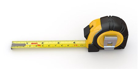 Tools. Measure tape on white background. 3d Stock Photo - Budget Royalty-Free & Subscription, Code: 400-06859900