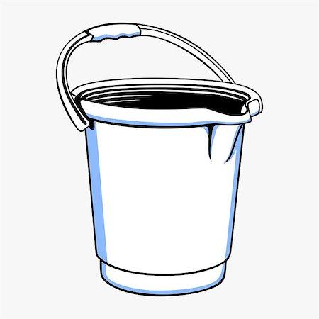 Plastic bucket Stock Photo - Budget Royalty-Free & Subscription, Code: 400-06850244